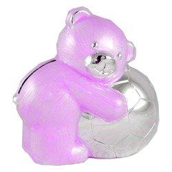 473-3044 Skarbonka z masy perłowej - różowy miś