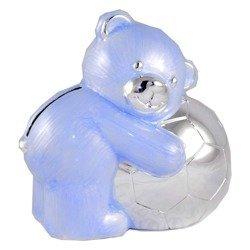 473-3045 Skarbonka z masy perłowej - niebieski miś