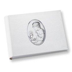 Album z obrazkiem srebrnym Pamiątka I Komunii dla chłopca DS0705O