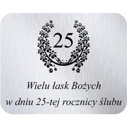 Grawer 4x5 cm, wzór numer 31 - 25 rocznica ślubu