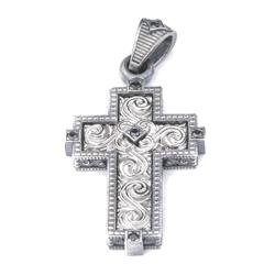 Krzyż Srebrny Męski pr 925 nowoczesny wzór modowy PRZYW006