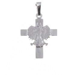 Krzyżyk srebrny z orłem  MO076
