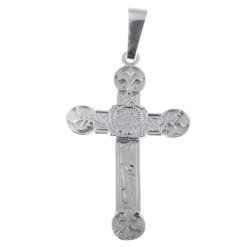 Krzyżyk srebrny z wizerunkiem Jezusa MO050