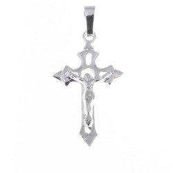 Krzyżyk srebrny z wizerunkiem Jezusa  MO057