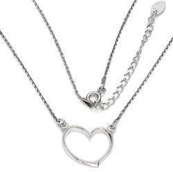 Łańcuszek celebrytka - serce srebro pr 925 CEL47