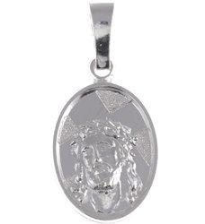 M77 Medalik srebrny - Jezus w koronie cierniowej