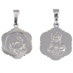 Medalik srebrny - Matka Boża Szkaplerzna Szkaplerz M028