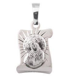 Medalik srebrny diamentowy - Matka Boża Ostrobramska MD64