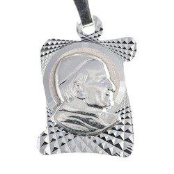Medalik srebrny diamentowy - Św. Jan Paweł II MD26