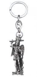 Metalowy brelok z wizerunkiem Michała Anioła