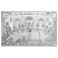 Obraz Srebrny Ostatnia wieczerza 80x50 cm