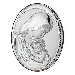 Obrazek Srebrny Matka Boska z dzieciątkiem 82000