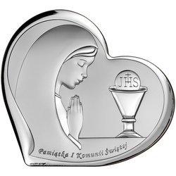 Obrazek Srebrny Pamiątka I Komunii dla dziewczynki 6518A
