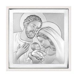 Obrazek Srebrny Święta Rodzina w ramce 6435W