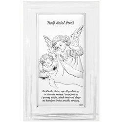 Obrazek srebrny Aniołek Twój Anioł Stróż DS02F