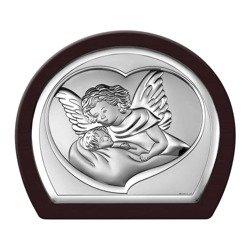 Obrazek srebrny Aniołek nad dzieckiem 6525WM