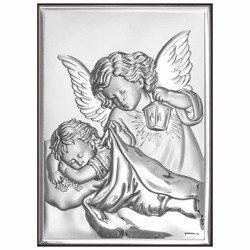 Obrazek srebrny Aniołek z latarenką 6325