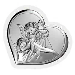 Obrazek srebrny Aniołek z latarenką 6448W