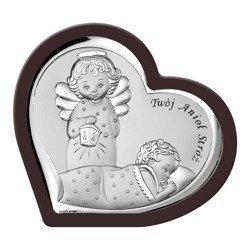 Obrazek srebrny Aniołek z latarenką 6549WM