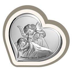Obrazek srebrny Aniołek z latarenką z podpisem 6449CC