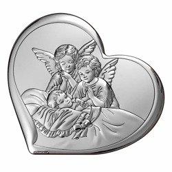 Obrazek srebrny Aniołki nad dzieckiem 6450