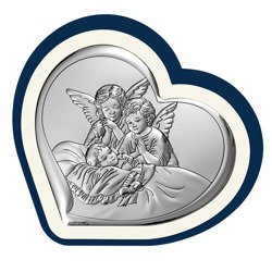 Obrazek srebrny Aniołki nad dzieckiem 6450BP