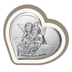 Obrazek srebrny Aniołki nad dzieckiem 6451CC