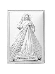 Obrazek srebrny Jezus Miłosierny 80001