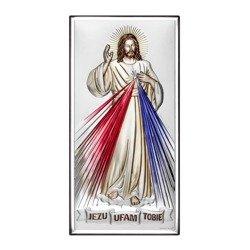 Obrazek srebrny Jezus Miłosierny – Jezu Ufam Tobie 6443COL