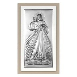 Obrazek srebrny Jezus Miłosierny – Jezu Ufam Tobie Beltrami Gioelli 6443TP
