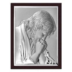 Obrazek srebrny Jezus modlący się 6522WM