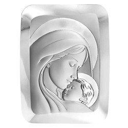 Obrazek srebrny Matka Boska z dzieciątkiem 6405