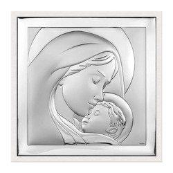 Obrazek srebrny Matka Boska z dzieciątkiem 6436W