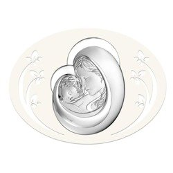 Obrazek srebrny Matka Boska z dzieciątkiem 6505P