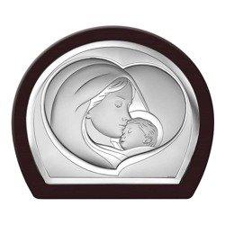Obrazek srebrny Matka Boska z dzieciątkiem 6524WM