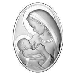Obrazek srebrny Matka Boska z dzieciątkiem 6556