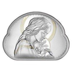 Obrazek srebrny Matka Boska z dzieciątkiem 8005