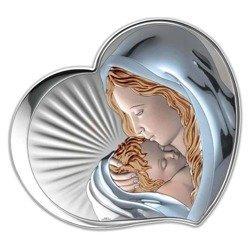 Obrazek srebrny Matka Boska z dzieciątkiem 81295COL