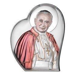 Obrazek srebrny Papież Święty Jan Paweł II 18061COL