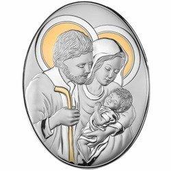 Obrazek srebrny Święta Rodzina 82005