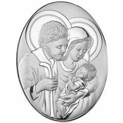 Obrazek srebrny Święta Rodzina 82007