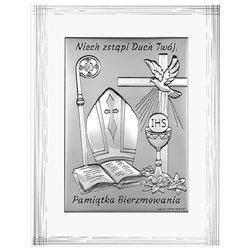 Obrazek srebrny pamiątka Bierzmowania 6721F