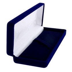 Pudełko flokowe podłużne niebieskie P9/FLOKNIEB