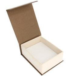 Pudełko na biżuterię eleganckie brąz / ecrue P3