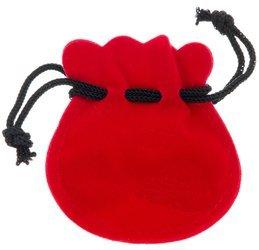 Pudełko woreczek ściągany 60x65 mm kolor czerwony P1/CZER PUDEŁKO
