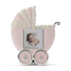 Ramka dziecięca z masy perłowej - różowa, wózek 473-3333
