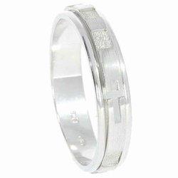 Różaniec srebrny obrotowa obrączka na palec wąska, rozmiar 14-28  Srebro pr. 925 RPO03