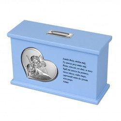 Skarbonka Pamiątka Chrztu Świętego - niebieska 3647C
