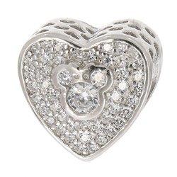 Srebrna przywieszka pr 925 Charms Serce z Myszką Miki PAN151
