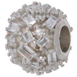 Srebrna przywieszka pr 925 Charms kula dyskotekowa cyrkonie PAN092